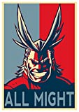 "Poster My Hero Academia ""Propaganda"" All Might - Formato A3 (42x30 cm)"