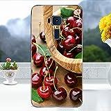 Softlyfit Embossed TPU Mobile Tasche Hüllen Schutzhülle für Asus Zenfone 3 ZE520KL - Cherry