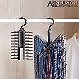 Norston Tie Rack Hanger Space Saving Necktie Storage Organiser With 20 Hooks