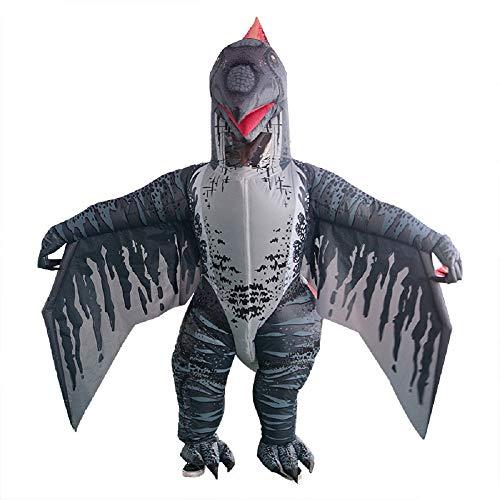 WJHCE Dinosaurier Aufblasbares Kostüm Flugsaurier Bühnen Performance Lustiges Halloween Weihnachten Spiel Cosplay