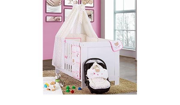 Baby Bett Set Babybettset Himmel Schleife Nestchen Bettw/äsche Zauber Fee in Rosa
