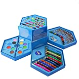 ToyToon Kids Art Set,Colors Box Color Pencil,Crayons, Water Color, Sketch Pens Set Of 46 Pieces For Boys And Kids Best Birthday Gift