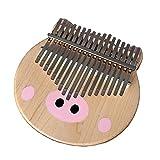 SSeir Maiale dei Cartoni Animati Kalimba 17 Chiavi Thumb Piano, Portatile Finger Piano con Istruzione di Studio e Tune Hammer, per Bambini Adulto Principianti