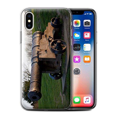Stuff4 Gel TPU Hülle / Case für Apple iPhone X/10 / Hütte Muster / Britischen Küste Kollektion Alte Kanone