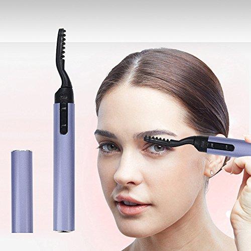 Liqiqi Beheizbare Wimpernzange, Heated Eyelash Curler, Tragbar Elektrische Wimpernzange für Geschwungene Wimpern Schmerzfreie Geschwungene Schönheit Make Up Tool