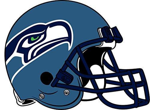 skyhighprint - Seattle Seahawks NFL Fußball-Deko-Aufkleber, Vinyl, 35,6 x 25,4 cm