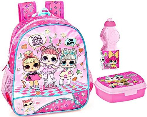 L.O.L. Surprise - Kinderrucksack, Lunchbox und Trinkflasche, rosa
