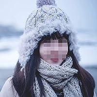 Hat Tejido De Punto De Lana De Invierno Cálido, Oreja De Lei Feng, Bola De Pelo Otoño E Invierno Sombrero De Invierno Marea Engrosamiento De Invierno,Gris,Un tamaño