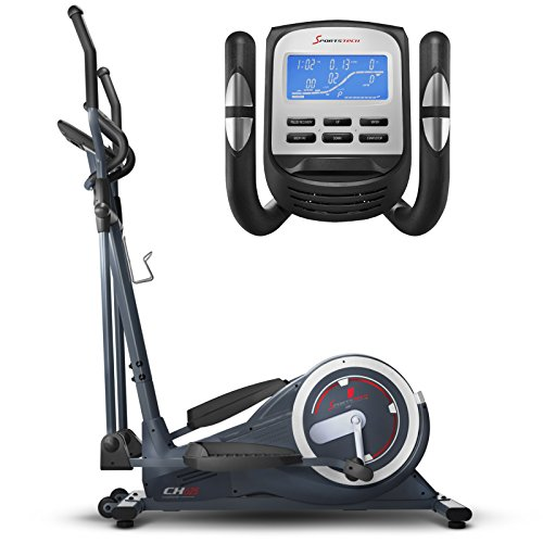Sportstech CX625 Crosstrainer - Smartphone App kompatibel, 24 KG Schwungmasse + Training mit Street View Ansicht und 22 Trainingsprogrammen mit HRC-Funktion + Tablet Halterung + Multifunktionskonsole (Heimtrainer Google Maps)