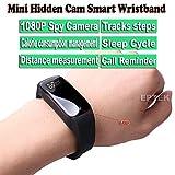 eptek @ HD 1080P Mini Spion versteckte Wristband Kamera DVR intelligente Armband Camcorder Recorder Audio Nanny Covert intelligente Armbanduhr Digitalkamera DV (schwarz)