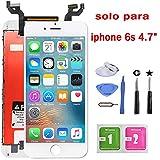Fly-all Pantalla Táctil LCD 6s 4.7 Reemplazo Pantalla LCD Pantalla Táctil de Repuesto con Herramientas (Blanco) …
