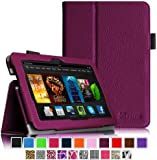 "Fintie Amazon Kindle Fire HDX 7 Folio Case - Slim Fit Folio Premium Vegan Leather Stand Cover with Auto Sleep/Wake for Kindle Fire HDX 7"" (3rd generation - 2013 release), Purple"