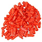 DIVISTAR - Confezione da 100 Adesivi a Forma di Vite, in plastica, per Uso Industriale, Colore: Arancione