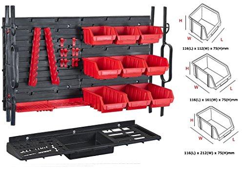 Werkzeugwand Werkstattwand + Stapelboxen + Werkzeughalterung Lochwand Halter Hakensortiment Werkstatt