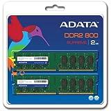 ADATA Supreme 2 GB (2 x 1 GB) DDR2-800 (PC-6400) CL6 DIMM Memory Kit SU2U800B1G62 (Black)