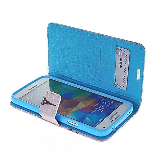 MOONCASE Pattern Series Housse de Protection Coque en Cuir Portefeuille Étui à rabat Case pour Apple iPhone 6 (4.7 inch) A16284