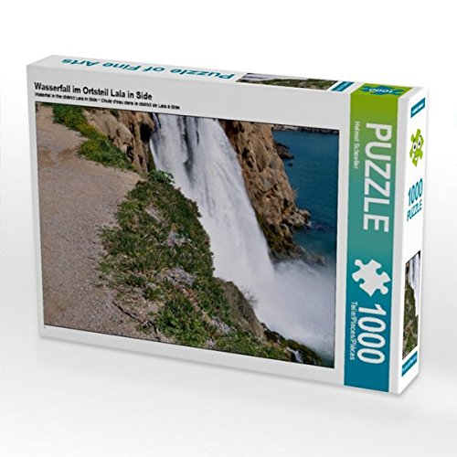 Wasserfall im Ortsteil Lala in Side 1000 Teile Puzzle quer
