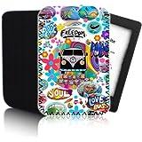 RETRO Bus ' (weiß) PPW Schutzhülle für AMAZON KINDLE PAPERWHITE Tablet - Stoß - und wasserfest Dreibeinen Neopren - schneller Versand - UK