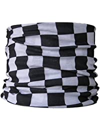 Multifunctional Headwear Black and White Check