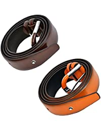Men's Belt Combo Tan Brown And Brown Men's Boys Belt (Brown And Black) For Mens And Boys