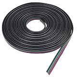 fastconLIGHTS 1 Meter flexibles Verlängerungskabel 4-adrig für RGB LED Strips 4-Pin 10mm Verbinder Verbindungskabel SMD 5050 TV Hintergrundbeleuchtung