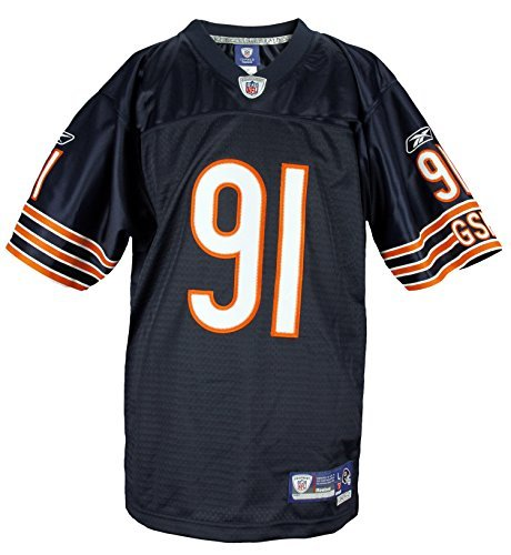 Chicago Bears tommie Harris # 91NFL Youth Premier Jersey, azul marino, Marino