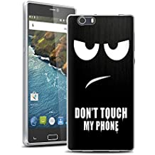 Vabneer FUNDA DE GEL SILICONA caso para Elephone M2 5.5 Pulgada Protectora Caja TPU Flexible Cáscara Don't touch my phone