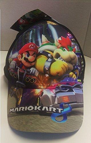Preisvergleich Produktbild Mario Kart 8 Cap Schirmmütze Größe 52 schwarz