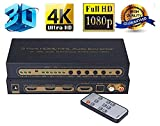 AGPTEK 4Kx2K 3 Port HDMI MHL Switch Audio Extractor Splitter With 4K ARC