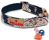 Pellina Hundehalsband Ibiza-Marina (M (25-35cm), Silber)