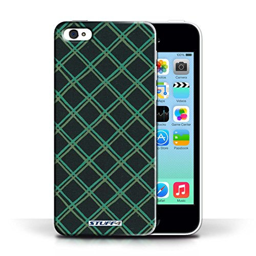 iCHOOSE Print Motif Coque de protection Case / Plastique manchon de telephone Coque pour Apple iPhone 5C / Collection Motif Entrecroisé / Orange Vert/Noir
