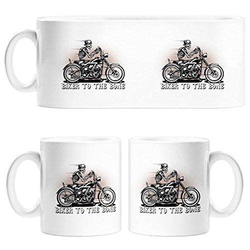 Taza para moteros Biker To The Bone - Cerámica