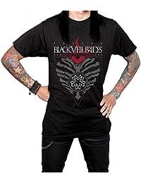 Black Veil Brides Official Burning Heart Guys T-Shirt