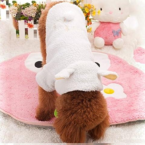 balai Animal cas-Sheep Angel chaud de l'habillement d'hiver maison Animaux Vêtements pour chien Puppy Cat habillement pour chien
