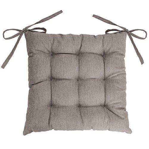 Douceur d'Intérieur Sitzkissen Newton Chambray/Polyester, Polyester, leinen, 40 x 40 cm -