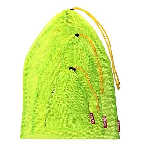 Dragon Label Mesh Bag mit Stopper Allzweck Set Fluoreszenz Gelb