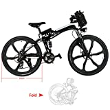 cooshional 26 zoll Elektrofahrrad 21 Speed E-Bike Foldable Electric Power Mountain Bicycle with LithiumIon Battery