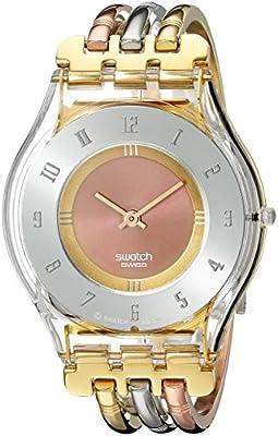 Swatch SKIN - Reloj analógico de mujer de cuarzo con correa de acero inoxidable multicolor - sumergible a 30 metros de Swatch