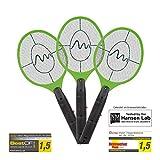Gardigo elektrische Fliegenklatsche 3er Set | Gegen Mücken und Fliegen | Elektro Fliegenfänger fürs Haus | Insektenabwehr, Mückenschläger