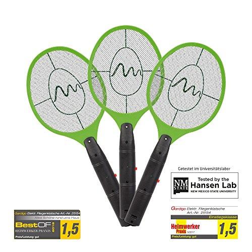 Foto de Gardigo Lote de 3 Matamoscas eléctrico mosca raquetas