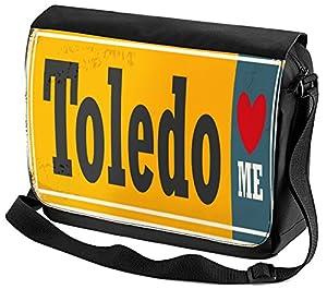 ciudad de toledo: Bolso Bandolera Pasión Viajes Ciudad Toledo impreso