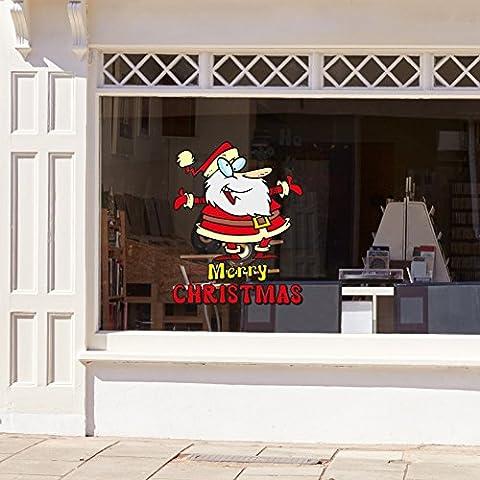 Wandaufkleber Dancing santa weihnachtsschmuck, weihnachtsdeko fenster, wanddekoration (Dancing Santa Weihnachten)