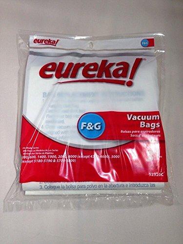 Vacuum Haushalt angeboten und Reinigung Eureka Stil F & G aufrecht Staubsaugerbeutel 3PK Original OEM (Eureka Staubsauger-beutel G F &)