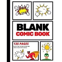 Blank Comic Book: Create Your Own Comic Strip, Blank Comic Panels, 135 Pages, Red (Large, 8.5 x 11 in.): Volume 1 (Action Comics)