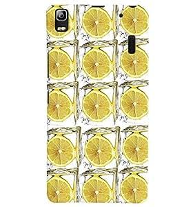 PrintVisa Corporate Print & Pattern Lemon 3D Hard Polycarbonate Designer Back Case Cover for Lenovo A7000