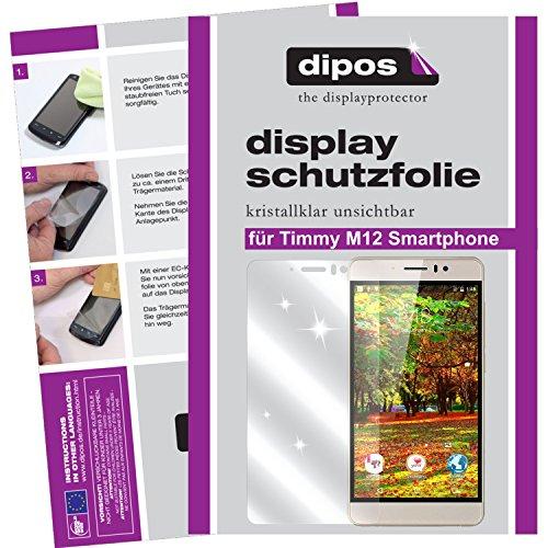 dipos I 2X Schutzfolie klar passend für Timmy M12 Smartphone Folie Displayschutzfolie