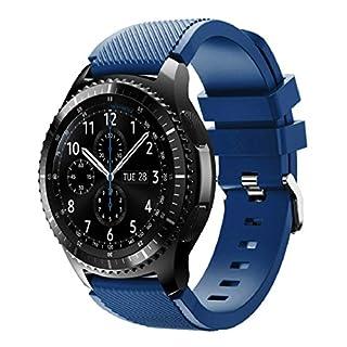 Für Samsung Gear S3 Frontier,Amcool Luxus Sport Einstellbar Bunt Soft Silikon Armband Strap Bands Armbänder (Marine, Für Samsung Gear S3 Frontier)