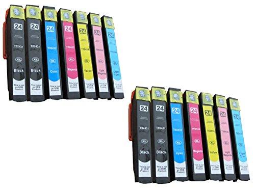 Preisvergleich Produktbild 14 komp. xl Druckerpatronen für Epson Expression Photo XP 750 760 850 860 950 XL Version 4 x schwarz 2 x blau 2 x rot 2 x gelb 2 x photocyan 2 x photomagenta