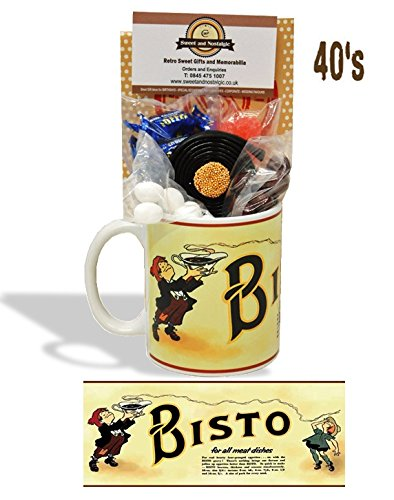Bisto Urchins Mug with a selection 1940's old fashioned Sweets