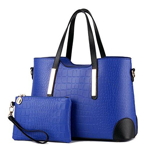 fanhappygo Fashion Bannfarbe Retro Leder Süßigkeiten Abendtaschen Damen Schulterbeutel Umhängetaschen blau